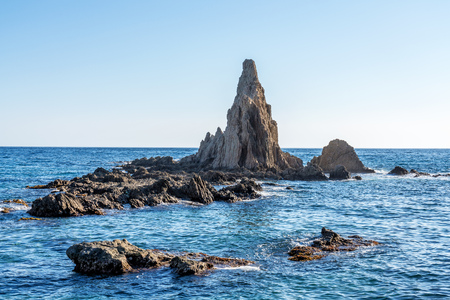 Rocky Coast of Cabo de Gata Nijar Park, Almeria, Spain