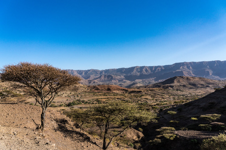 landscape in the highlands of Lalibela, Ethiopia Imagens - 122708241