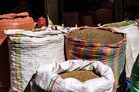 Addis Mercato in Addis Abeba, Ethiopia in Africa. Stok Fotoğraf