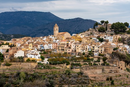 Idyllic old town Polop, Costa Blanca, Alicante, Spain in Western Europe Reklamní fotografie