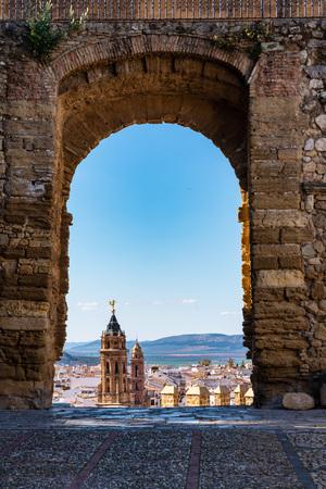 San Sebastian church tower in Antequera, Malaga Province, Andalusia, Spain, Western Europe Stock Photo