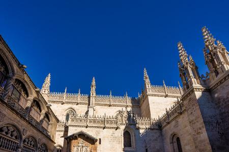 Granada Cathedral or Cathedral of Incarnation, Catedral de Granada, Santa Iglesia Catedral Metropolitana de la Encarnacion de Granada, 1561 - Roman Catholic church in Granada city. Andalusia, Spain.