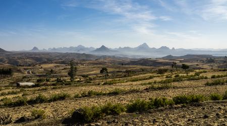 Landscape in Gheralta in Tigray, Northern Ethiopia. 版權商用圖片