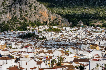 Ubrique, Cadiz. Spain. White villages of Andalusia in the park of Alcornocales