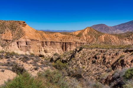 Tabernas desert, in spanish Desierto de Tabernas, Andalusia, Spain 版權商用圖片