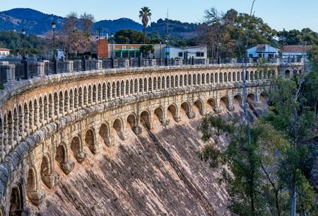 Bridge over the Conde de Guadalhorce near Ardales, Andalusia, Spain 版權商用圖片