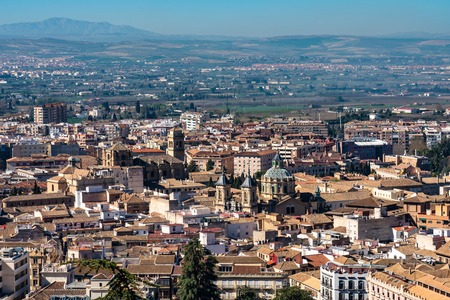 Cityscape view of Granada in Andalusia, Spain