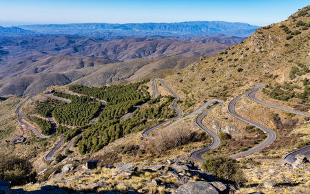 Alto de Velefique in Sierra de Los Filabres, Almeria, Andalusia, Spain 版權商用圖片