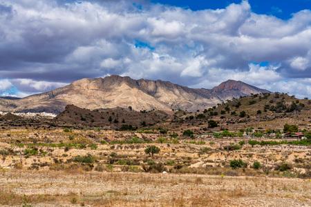Landscape view of El Tolle near Murcia in Spain