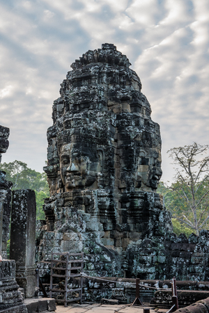 Angkor Wat is a temple complex in Cambodia and the largest religious monument in the world. Siem Reap, Cambodia. 版權商用圖片