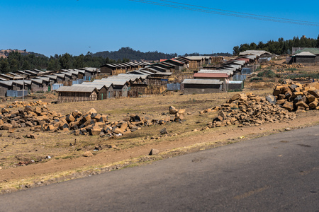 a little village in the Simien Mountains National Park in Northern Ethiopia