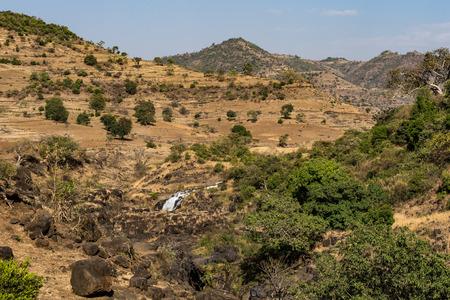 Landscape view near the Blue Nile falls, Tis-Isat Falls, meaning great smoke in Amharic in Amara region of Ethiopia, Eastern Africa 版權商用圖片