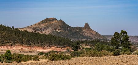 Landscape around historical city Aksum - Ethiopia, Africa