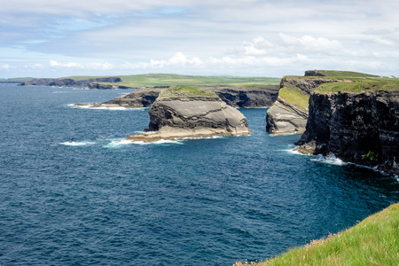 Cliffs of Kilkee in Co. Clare, Ireland. Peninsula in West Clare, Ireland. Famous beach and landscape on the wild atlantic way Stock Photo