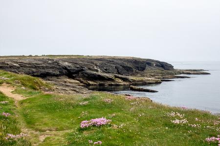 Hook Head at the tip of the Hook Peninsula in County Wexford in Ireland.