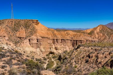 Tabernas desert, in spanish Desierto de Tabernas, Andalusia, Spain