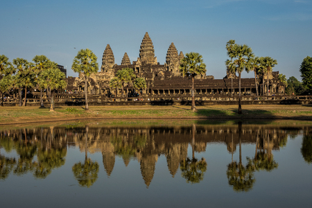 Angkor Wat is a temple complex in Cambodia and the largest religious monument in the world. Siem Reap, Cambodia. Reklamní fotografie