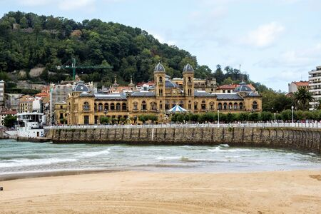 Walk through San Sebastian or Donostia in the Basque country in Spain. San Sebastian is a coastal city