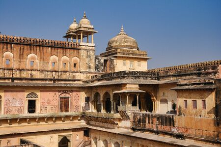 Amber Fort in Jaipur in Rajasthan, India. Amber Fort is the main tourist attraction in the Jaipur area.