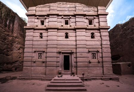 Bete Amanuel, monolitic church in Lalibela, Ethiopia Africa