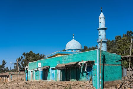 A muslim mosque on the road from Gondar to the Simien mountains, Noth Ethiopia, Africa.
