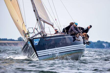 Travemuende, Germany - July 28, 2018 Sailing week in Travemuende Germany 新闻类图片
