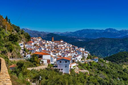 White Andalusian village, pueblo blanco Algatocin. Province of Malaga, Spain