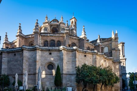 Cathedral of Incarnation in Granada city. Andalusia, Spain.