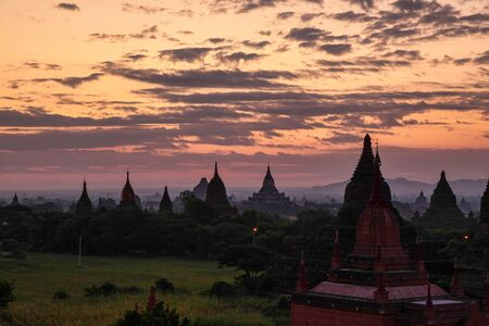 Temples of Bagan, an ancient city located in the Mandalay Region of Burma, Myanmar, Asia.
