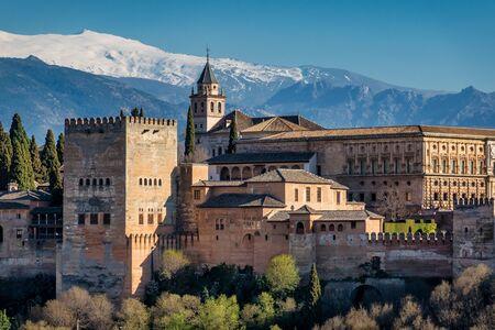 View of Alhambra Palace in Granada, Spain in Europe Stock Photo
