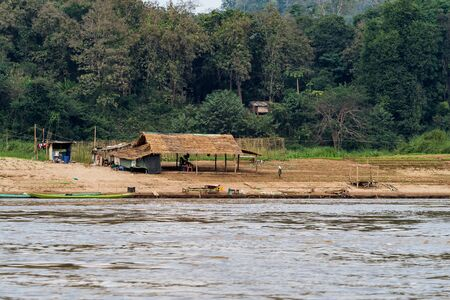Most Popular Places to Visit Mekong River Natural Travel Trips to Pak Ou Cave in Luang Prabang ,Laos