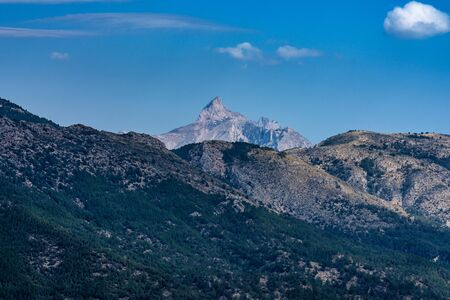 Landscape around Guadelest, Province of Alicante in Spain Imagens