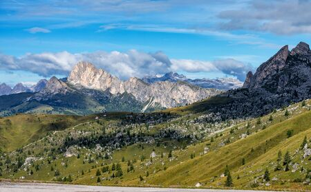 Italy Dolomites moutnain at summer - Passo di Giau.
