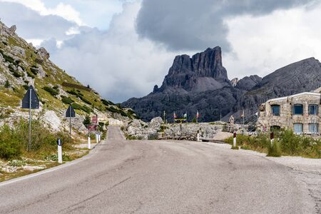 The Dolomites Mountains, Passo Valparola near Cortina d'Ampezzo Italy