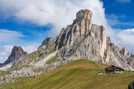Italy Dolomites mountain at summer - Passo di Giau.