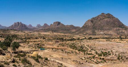 Landscape in Gheralta in Tigray, Northern Ethiopia, Africa. Trip from Axum to Gheralta Reklamní fotografie