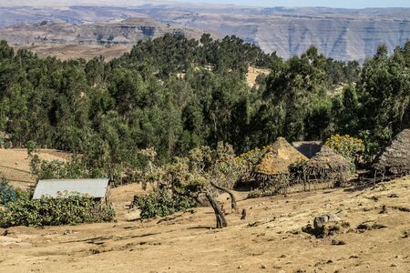 Landscape view of the Simien Mountains National Park in Northern Ethiopia, Africa. Reklamní fotografie