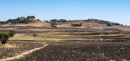 Landscape view on the road from Gondar to the Simien mountains, Noth Ethiopia, Africa. Reklamní fotografie