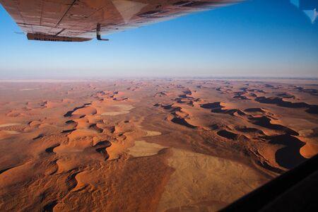 Aerial view of the coastal dunes of the Namib desert, Namibia Skeleton Coast.