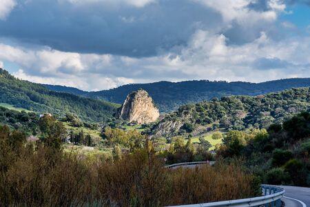 Landscape of Sierra de Grazalema natural park, Cadiz province, Andalusia, Spain.