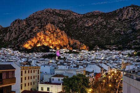 Ermita de San Antonio in Ubrique, Cadiz, Andalusia, Spain at night Stock Photo
