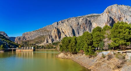 El Chorro gorge along the famous Caminito del Rey path in Andalusia, Spain