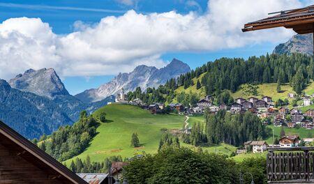 Dolomites, mountain town of Selva di Cadore, Veneto, Italy
