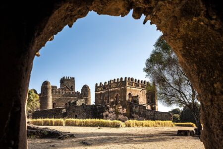 Fasil Ghebbi Royal Enclosure is the remains of a fortress-city within Gondar, Ethiopia. It was founded in the 17th century by Emperor Fasilides and was the home of Ethiopias emperors.