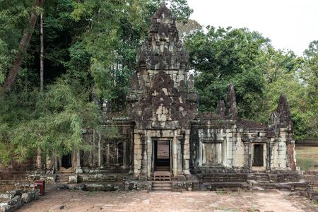 Ancient Khmer architecture. Baphuon temple at Angkor Wat complex, Siem Reap, Cambodia, Asia