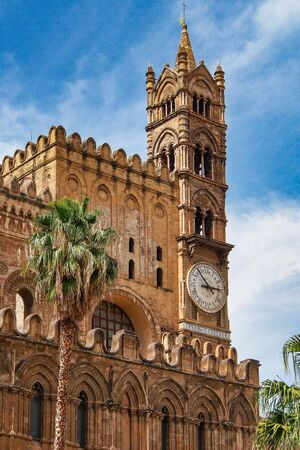 The Cathedral of Palermo is an architectural complex in Palermo, Sicily, Italy. The church was erected in 1185 by Walter Ophamil, the Anglo-Norman archbishop of Palermo and King William II's minister