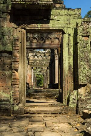 Preah Khan temple in complex Angkor Wat in Siem Reap, Cambodia in a summer day