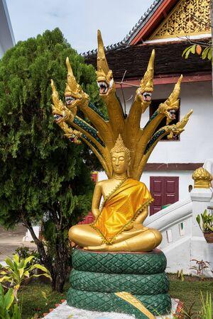 The buddhist temple Vat May Souvannapoumaram at Luang Prabang, Laos