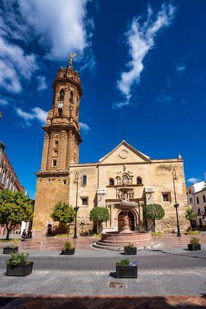 San Sebastian church tower in Antequera, Malaga Province, Andalusia, Spain, Western Europe Stockfoto