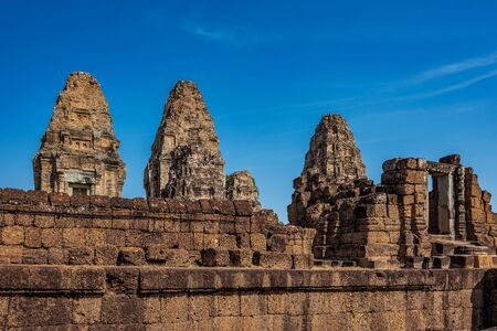 Ancient East Mebon temple in the Angkor Wat complex in Siem Reap of Cambodia. Banco de Imagens